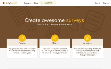Dotazník online zdarma - Surveynuts