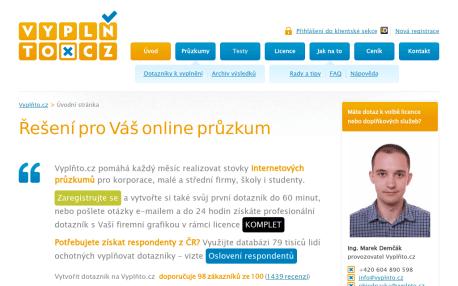 Jak vytvořit dotazník online - Vyplňto