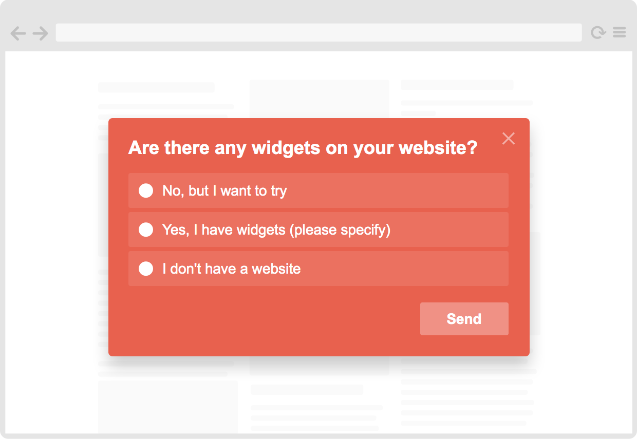 Website survey widget plugin (free)