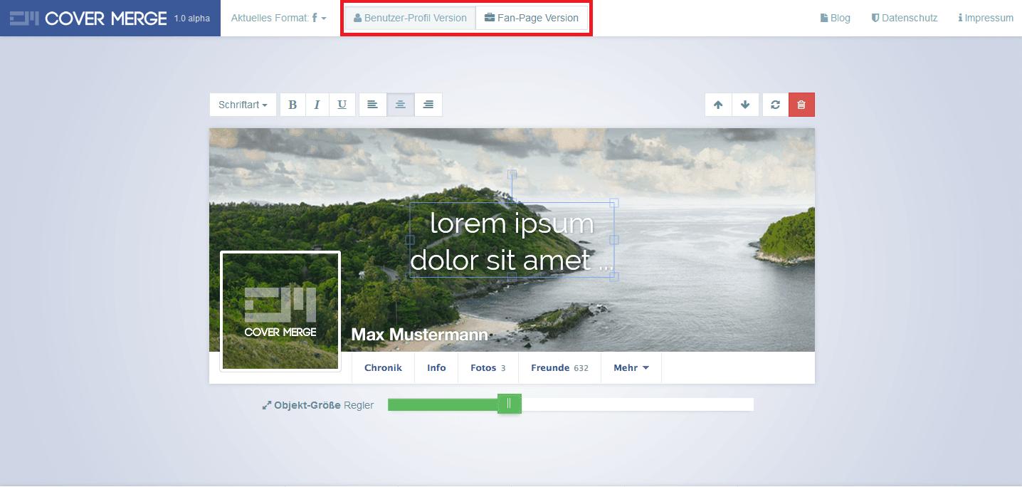 Profilová a úvodní fotka na FB (krok2)