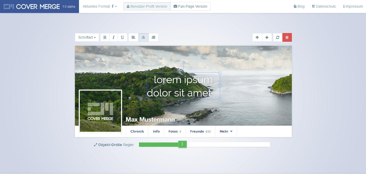Profilová a úvodní fotka na FB (krok1)