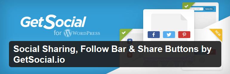 GetSocial - tlačítka pro sdílení