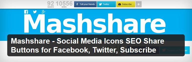 Mashshare - tlačítka pro sdílení pro WordPress