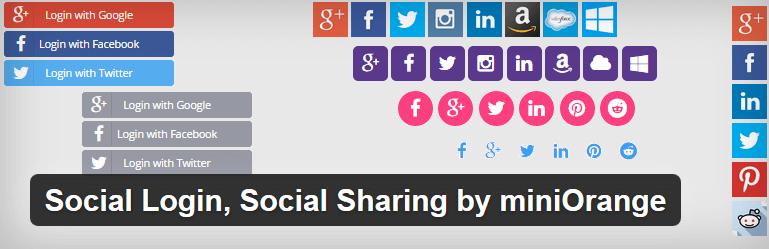 miniOrange - ikonky sociálních sítí