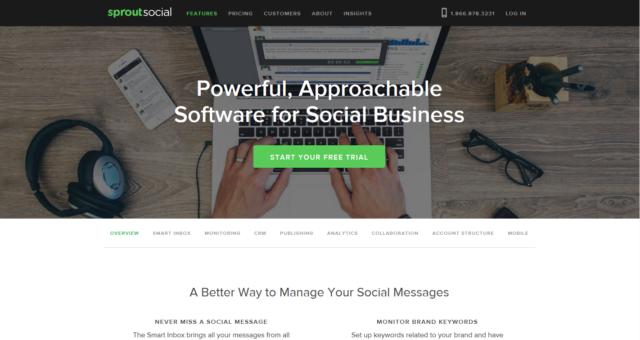 Sproutsocial - přihlášení/registrace
