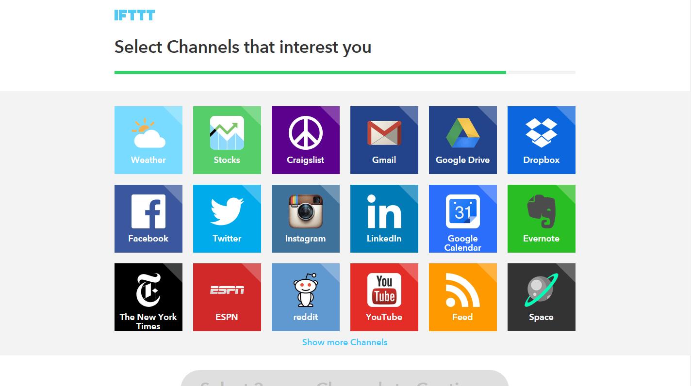 IFTTT - channels (aplikace)
