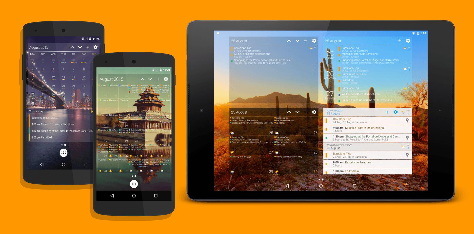 Kalendář - widgety na plochu