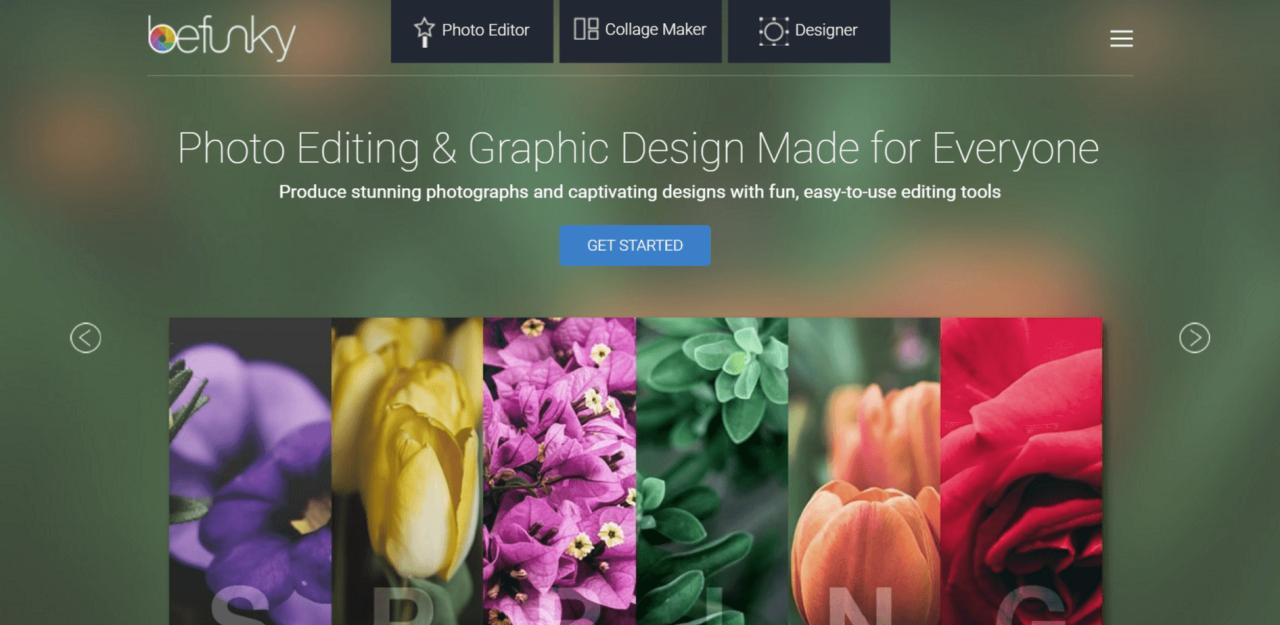 BeFunky - úprava fotek, koláží a grafiky zdarma