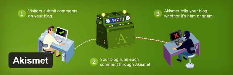 Nejlepší a užitečné pluginy pro WordPress - Akismet