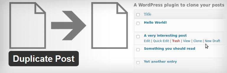 Nejlepší a užitečné pluginy pro WordPress - Duplicate Post
