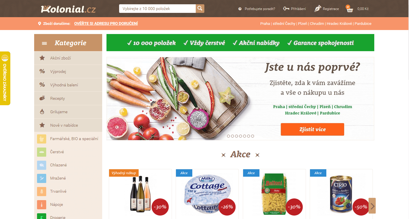 Kolonial.cz - online supermarket (nákup potravin)