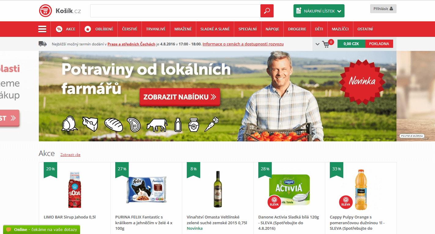 Košík.cz - online supermarket (nákup potravin)