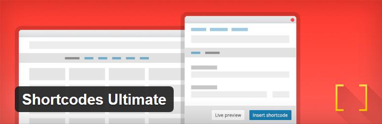 Nejlepší a užitečné pluginy pro WordPress - Shortcodes Ultimate