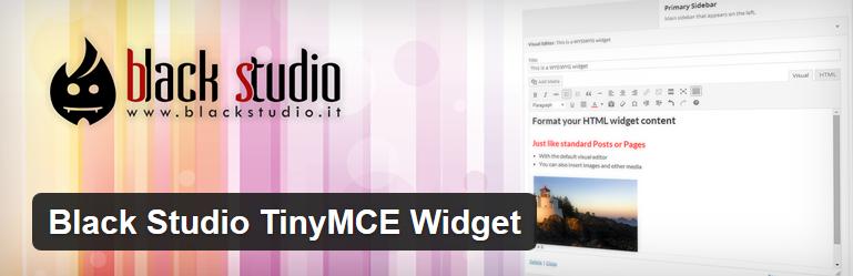 Nejlepší a užitečné pluginy pro WordPress - Black Studio Tiny MCE Widget
