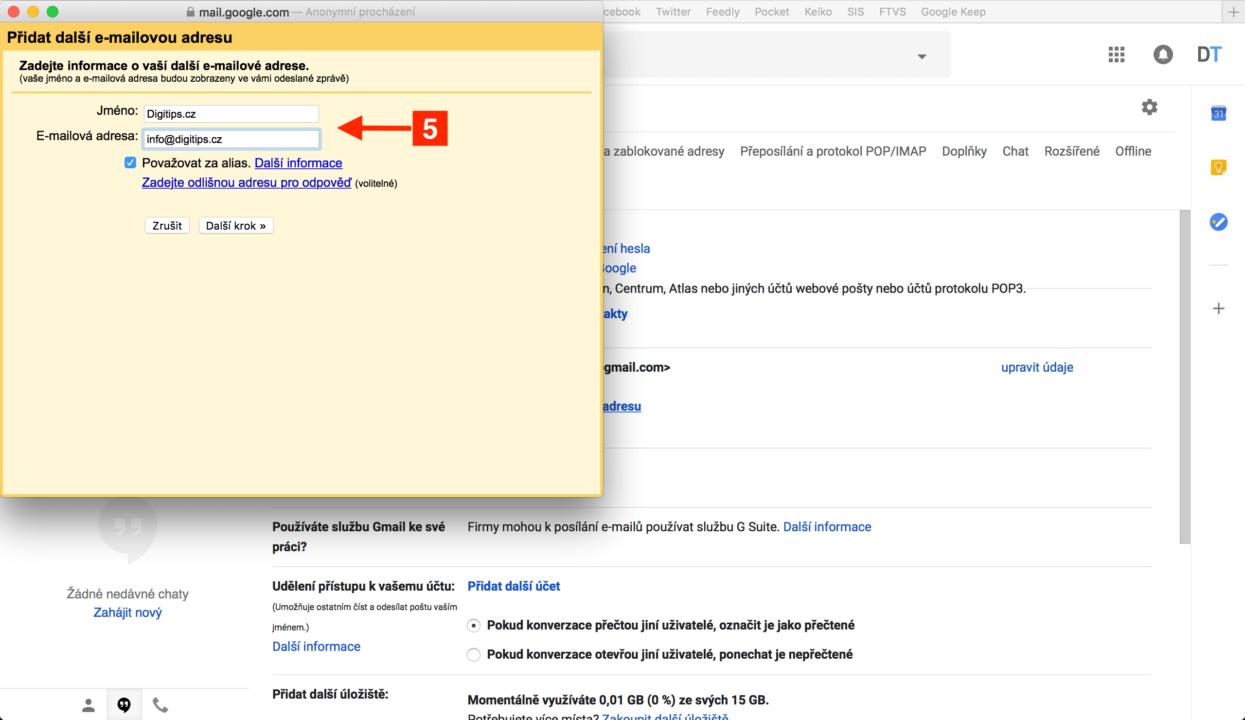 Odesílání z Gmailu 2