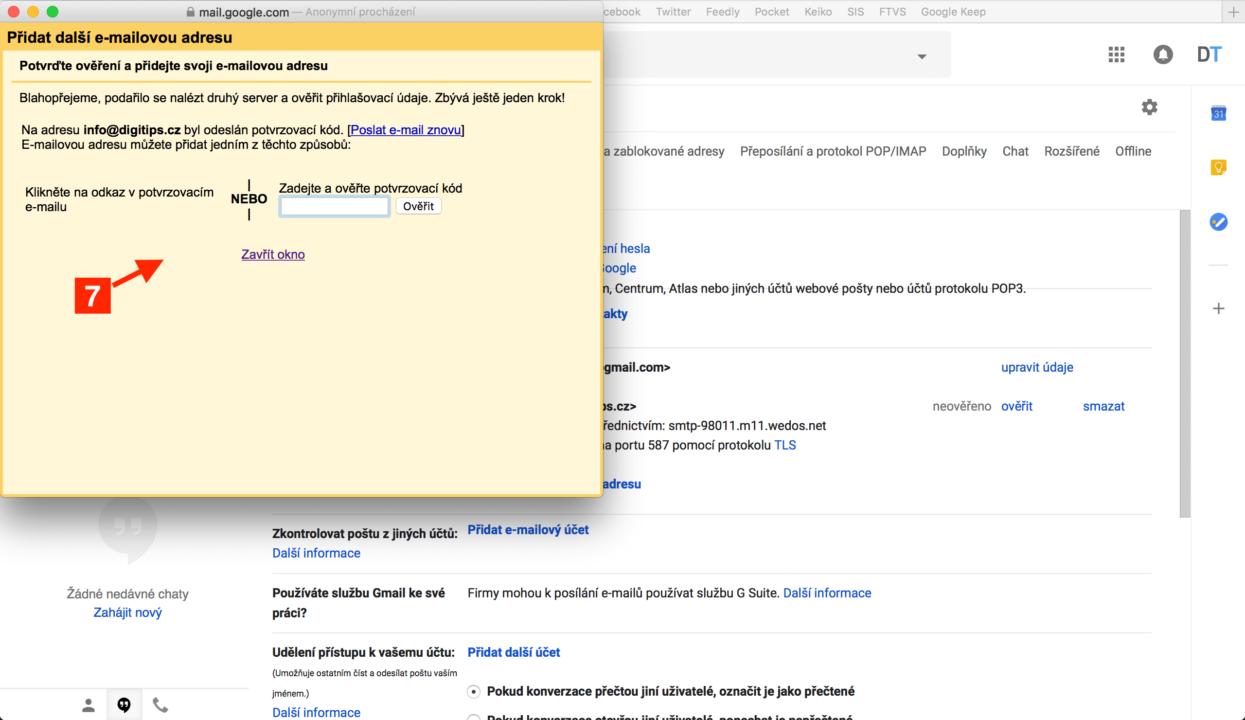 Odesílání z Gmailu 4
