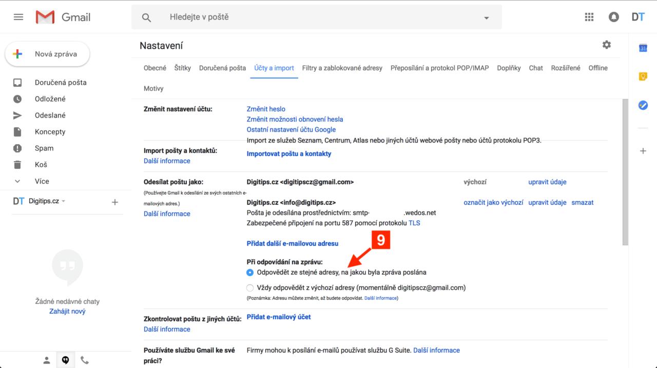 Odesílání z Gmailu 6