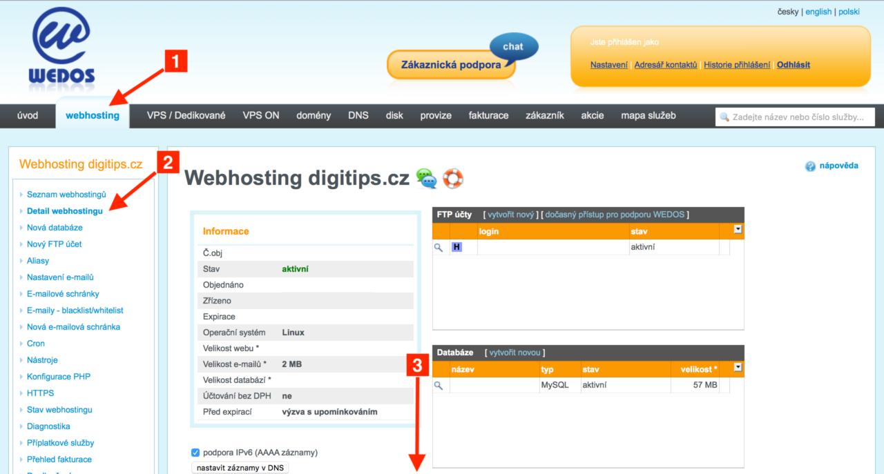 Zjištění SMTP