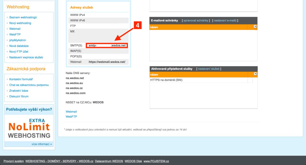 Zjištění SMTP 2
